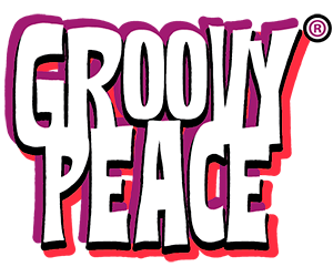 Groovy Peace Logo Black Ice Tea